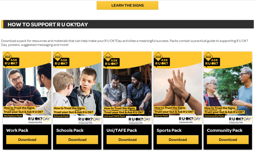 Get involved in RUOK?Day 2019