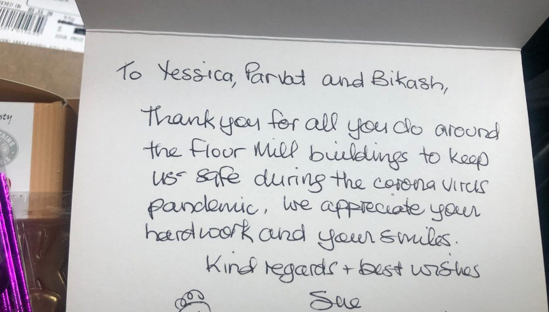 Flour Mill residents say thank you