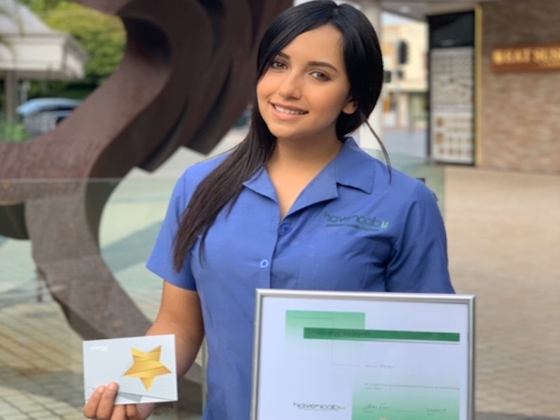 Yésica-Paola-Wilches-Beltran Havencab Employee of the Month Nov 2019